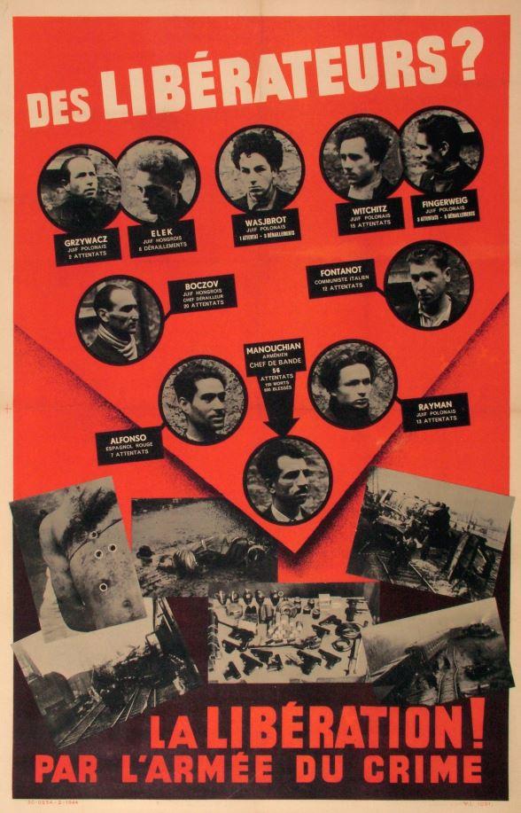 affiche rouge exposition Mémorial de la Shoah