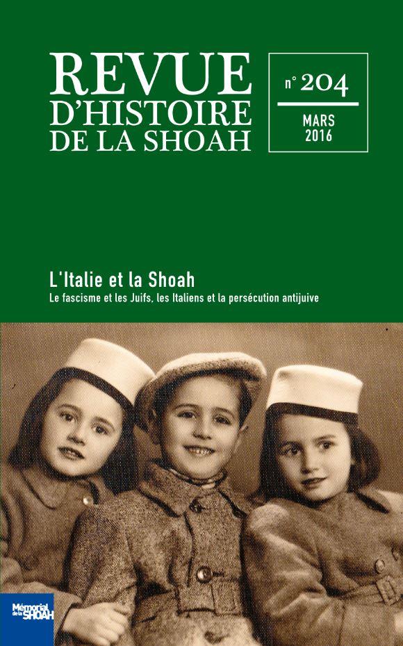 Revue Histoire Shoah Mars 2016 Mémorial