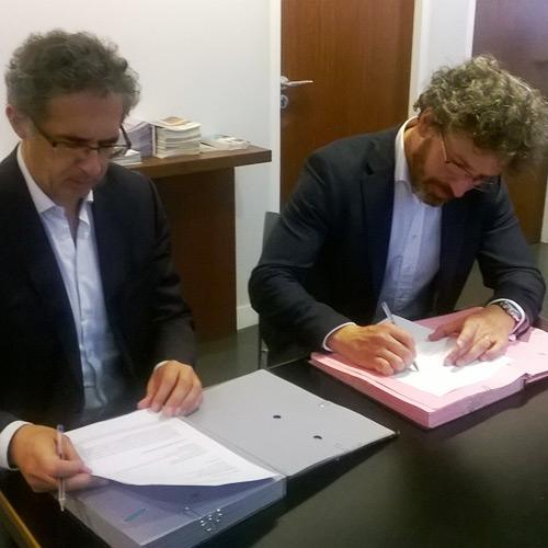 signature convention partenariat camp des Milles Mémorial Shoah