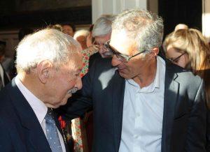 Gabriel Bénichou et Jacques Fredj le 8 septembre 2016 à la mairie du XVe