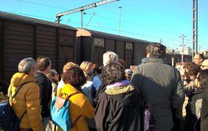 La gare d'où sont partis les convois vers Auschwitz-Birkenau