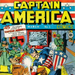 Captain America Comics, Vol. 1 # 1, couverture de Joe Simon, Jack Kirby, Marvel, mars 1941.