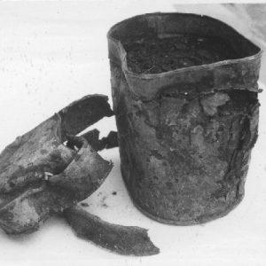 Objet trouvé à Auschwitz II (Brzezinka). Panstwowe Muzeum Oswiecim.
