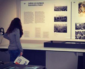 "Exposition ""Filmer la guerre"" au Mémorial de la Shoah en 2015"