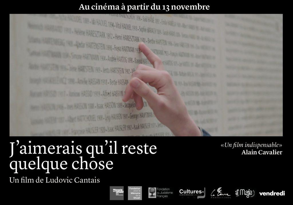 « J'aimerais qu'il reste quelque chose », le film documentaire de Ludovic Cantais